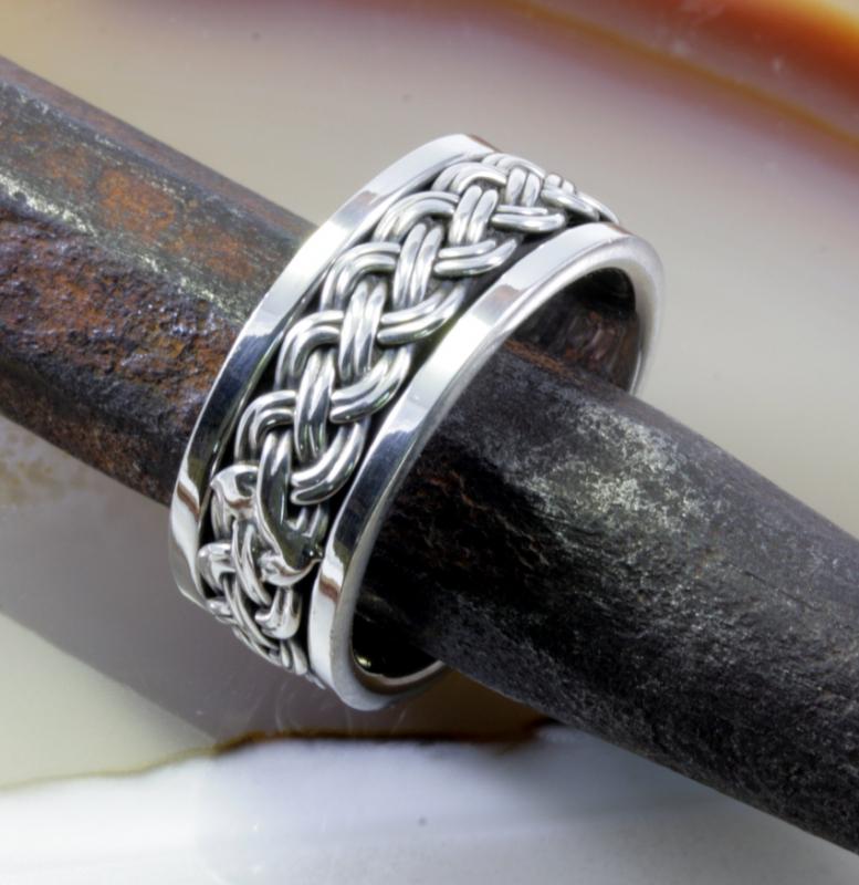 Massiver Ring, 925 Silber