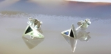 Abalone und Onyx, Ohrstecker, 925 Sterling Silber