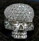 Totenkopf, Skull, Ring, 925 Sterling Silber und Zirkonen