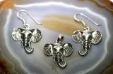 Elefanten, 925 Sterling Silber, Schmuckset