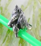 Pferd und Fohlen,Ring, 925 Sterling Silber