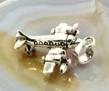 Flugzeug, 2 Motoren,Anhänger,Silber