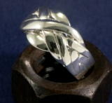 Puzzlering, Silber, 6 Bänder