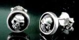 Skull, Ohrstecker,925 Sterling Silber