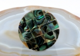 Abalone und Holz, Ring