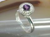 Amethyst und 925 Sterling Silber, Ring