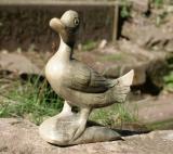 Ente, kleine Holzskulptur