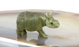 Nashorn, Rhinozeros,Porzellanminiaturen