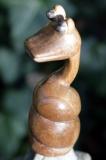 Schlange, kleine Holzskulptur