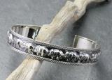 Elefanten, Armreif, 925 Sterling Silber