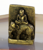 Buddha auf dem Elefant,Bronze
