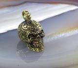 Totenkopf, Skull, Anhänger, Bronze