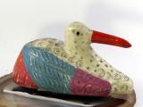 Ente, aus Holz geschnitzt