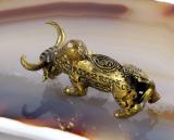 Wasserbüffel, Bronze, Miniatur