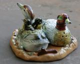 Enten, Salz- und Pfefferstreuer, Porzellan