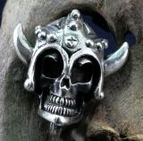 Totenkopf, Wikinger, Skull, Anhänger, 925 Sterling Silber
