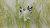 Husky, Hund, Porzellanminiatur